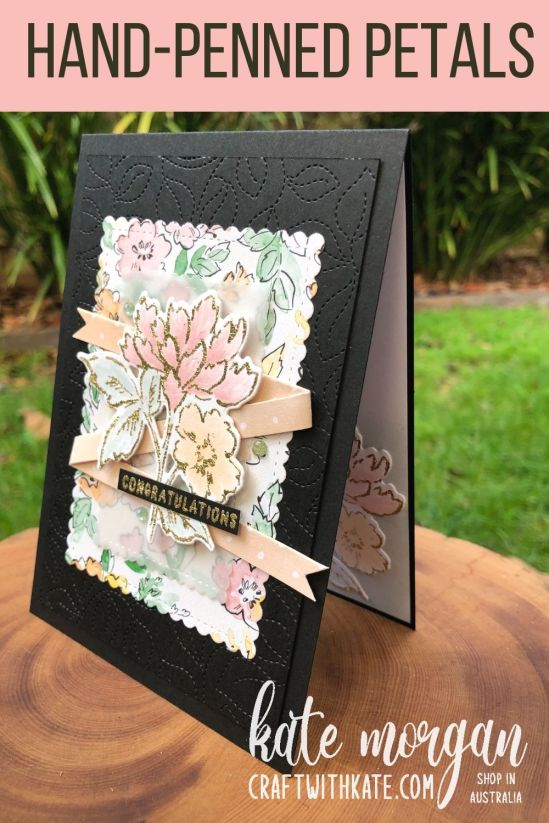 Hand-Penned Bundle for Blushing Bride CCS by Kate Morgan, Stampin Up Australia 2021 side