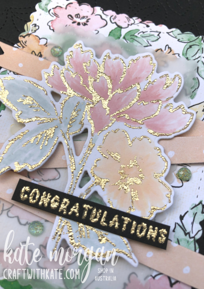Hand-Penned Bundle with Gilded Leafing for Blushing Bride CCS by Kate Morgan, Stampin Up Australia 2021
