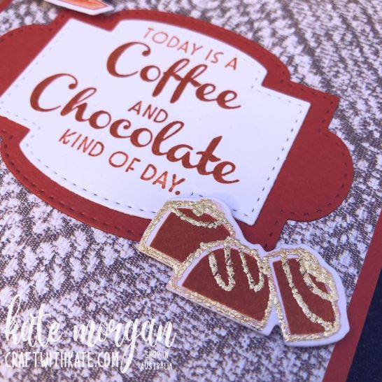Nothing's Better Than card for CCBH Cajun Craze by Kate Morgan, Stampin Up Australia 2021 close up
