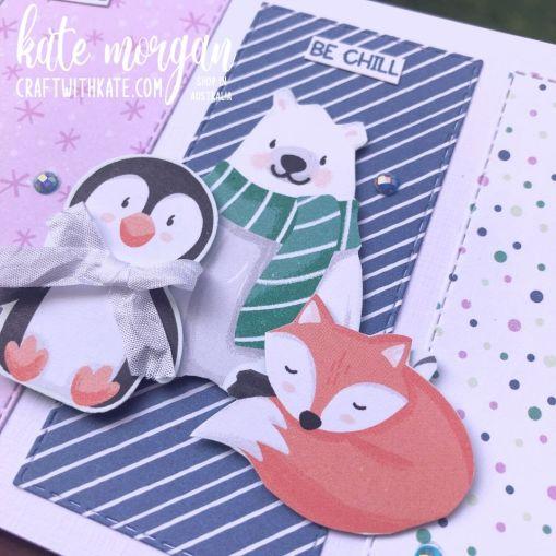 Penguin Playmates DSP SAB Stampin Up 2021 by Kate Morgan, Australia close up