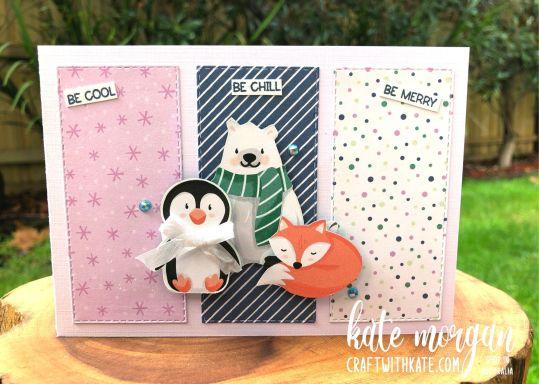 Penguin Playmates DSP SAB Stampin Up 2021 by Kate Morgan, Australia.