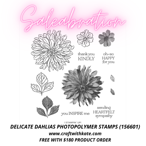 Delicate Dahlias Photopolymer stamp set (156601)
