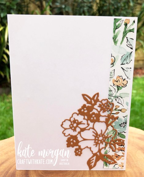 Hand-Penned Bundle card & envelope for Cinnamon Cider CCBH by Kate Morgan, Stampin Up Australia 2021 inside