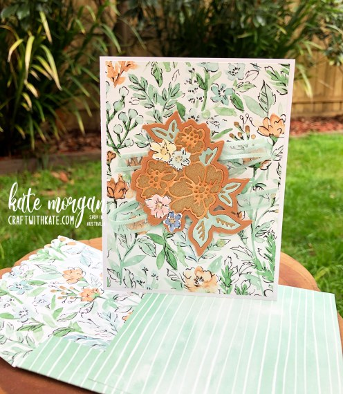 Hand-Penned Bundle card & envelope for Cinnamon Cider CCBH by Kate Morgan, Stampin Up Australia 2021