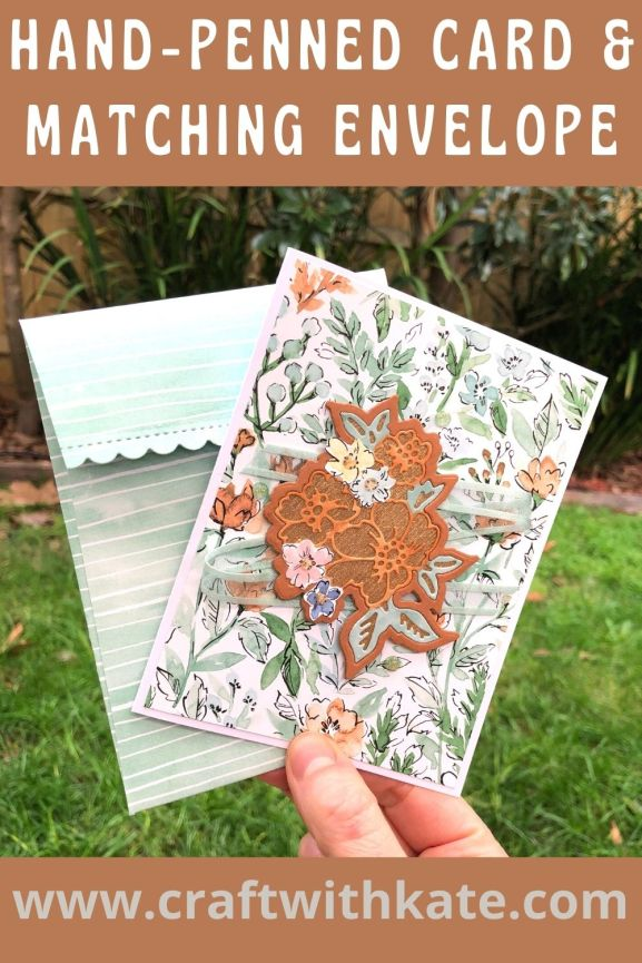 Hand-Penned Bundle card & envelope for Cinnamon Cider CCS by Kate Morgan, Stampin Up Australia 2021