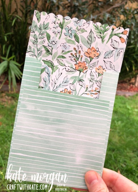 Hand-Penned Bundle matching envelope for Cinnamon Cider CCBH by Kate Morgan, Stampin Up Australia 2021