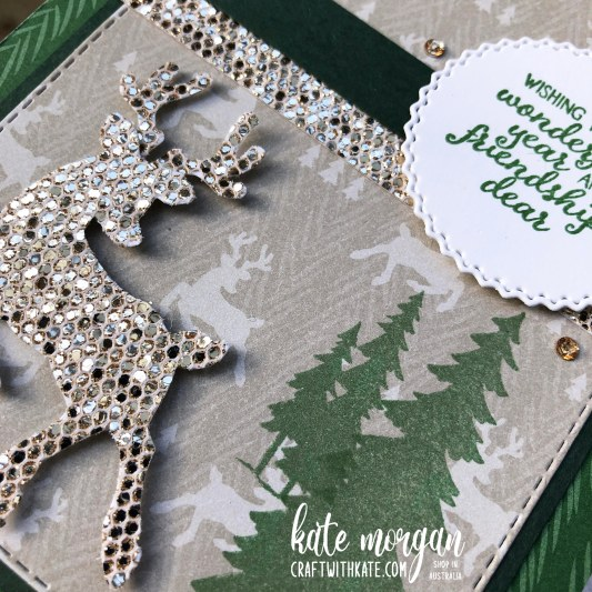 Peaceful Deer Quick Card 1 HOC by Kate Morgan, Stampin Up Australia Christmas 2021.