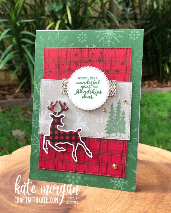 Peaceful Deer Quick Card 2 HOC by Kate Morgan, Stampin Up Australia Christmas 2021.