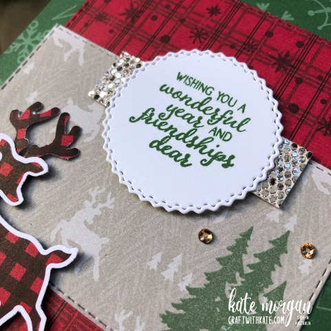 Peaceful Deer Quick Card 2 HOC by Kate Morgan, Stampin Up Australia Christmas 2021