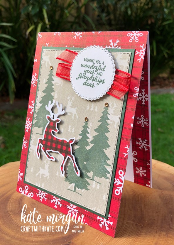 Peaceful Deer Quick Card 3 HOC by Kate Morgan, Stampin Up Australia Christmas 2021