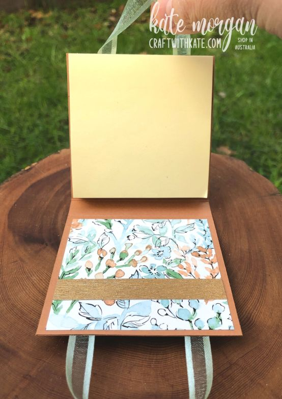 Post It Note Holder using Hand-Penned Bundle for Cinnamon Cider CCS by Kate Morgan, Stampin Up Australia 2021 open