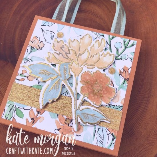 Post It Note Holder using Hand-Penned Bundle for Cinnamon Cider CCS by Kate Morgan, Stampin Up Australia 2021 side