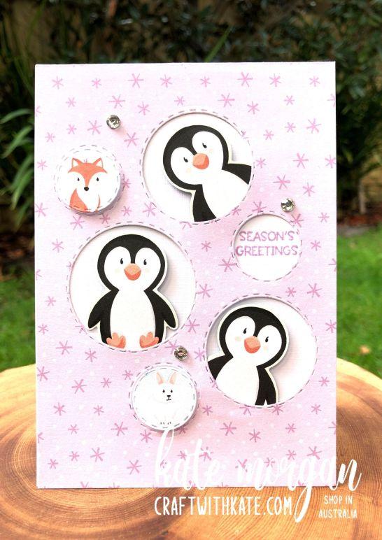 SAB Penguin Playmates DSP Stampin Up 2021 by Kate Morgan, Australia.