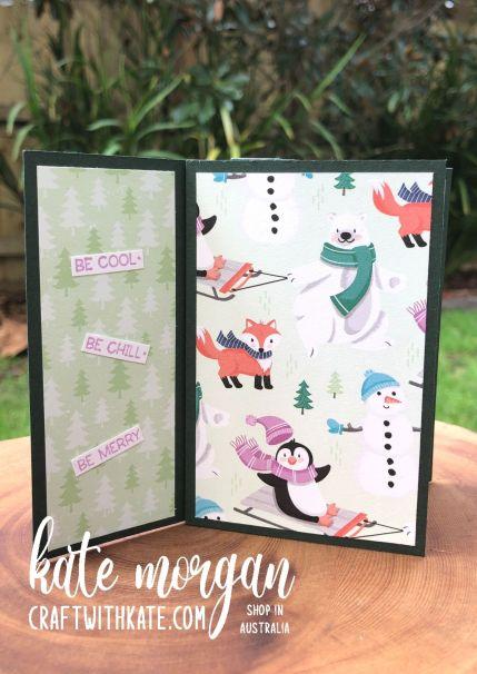 Tower Card using Stampin Up Penguin Place Bundle SAB 2021 by Kate Morgan, Australia 3