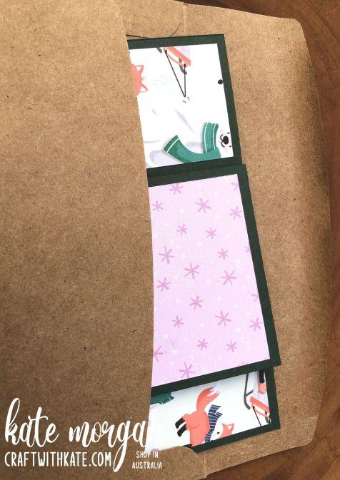 Tower Card using Stampin Up Penguin Place Bundle SAB 2021 by Kate Morgan, Australia envelope