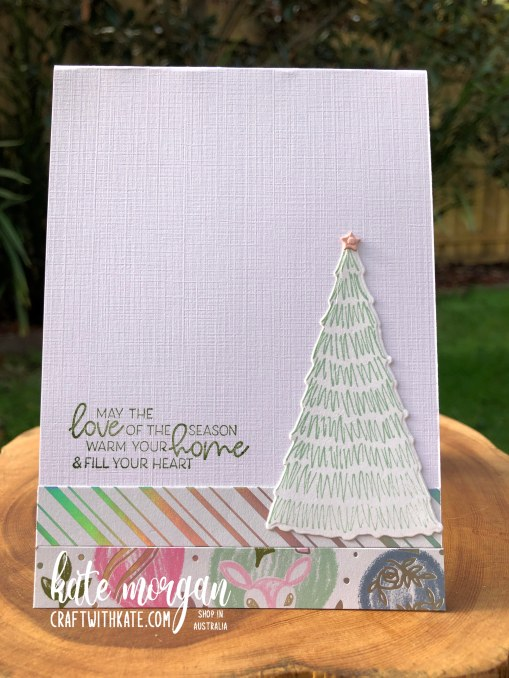Whimsy and Wonder Christmas Card 1 HOC by Kate Morgan, Stampin Up Australia Christmas 2021 inside