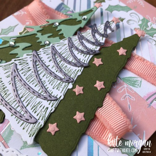 Whimsy and Wonder Christmas Card 1 HOC by Kate Morgan, Stampin Up Australia Christmas 2021.
