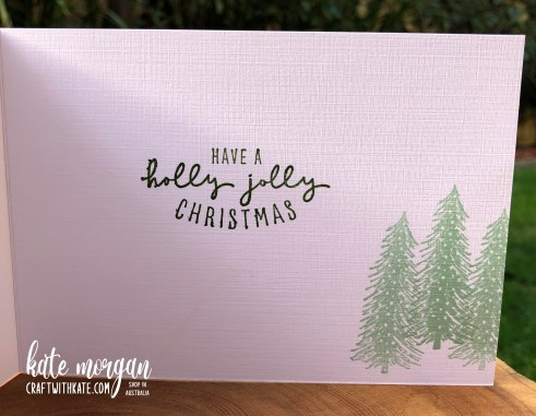 Whimsy and Wonder Christmas Card 2 HOC by Kate Morgan, Stampin Up Australia Christmas 2021 inside