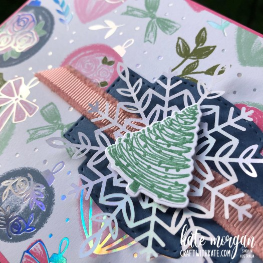 Whimsy and Wonder Christmas Card 2 HOC by Kate Morgan, Stampin Up Australia Christmas 2021.