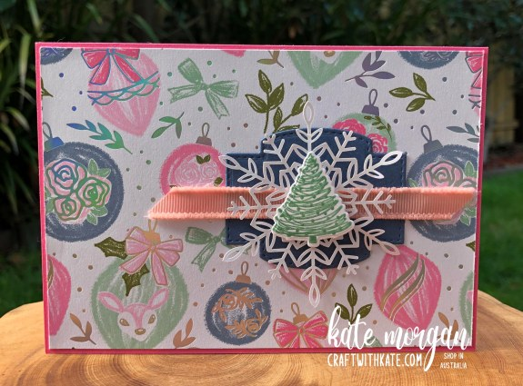 Whimsy and Wonder Christmas Card 2 HOC by Kate Morgan, Stampin Up Australia Christmas 2021