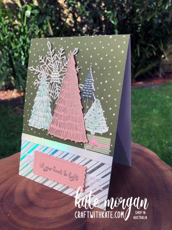 Whimsy and Wonder Christmas Card by Kate Morgan, Stampin Up Australia 2021 side