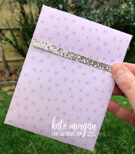 Bay Window Fancy Fold card using Penguin Playmates DSP Saleabration 2021 by Kate Morgan Stampin Up Australia envelope