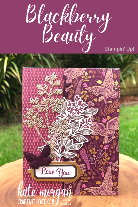 Blackberry Beauty by Kate Morgan Stampin Up Australia 2021