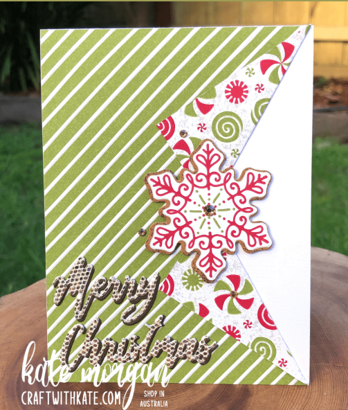 Gingerbread & Peppermint Christmas Card 1 by Kate Morgan, Stampin Up Australia 2021