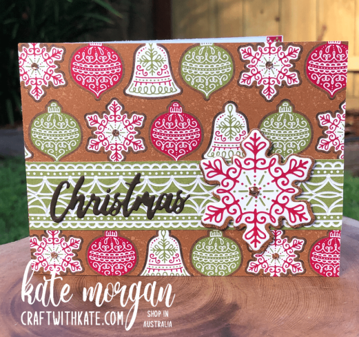 Gingerbread & Peppermint Christmas Card 3 by Kate Morgan, Stampin Up Australia 2021