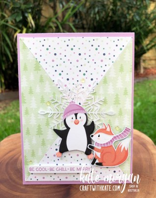 Penguin Playmates Saleabration 2021 by Kate Morgan, Stampin Up Australia Heart of Christmas 1