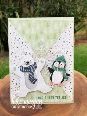 Penguin Playmates Saleabration 2021 by Kate Morgan, Stampin Up Australia Heart of Christmas 2