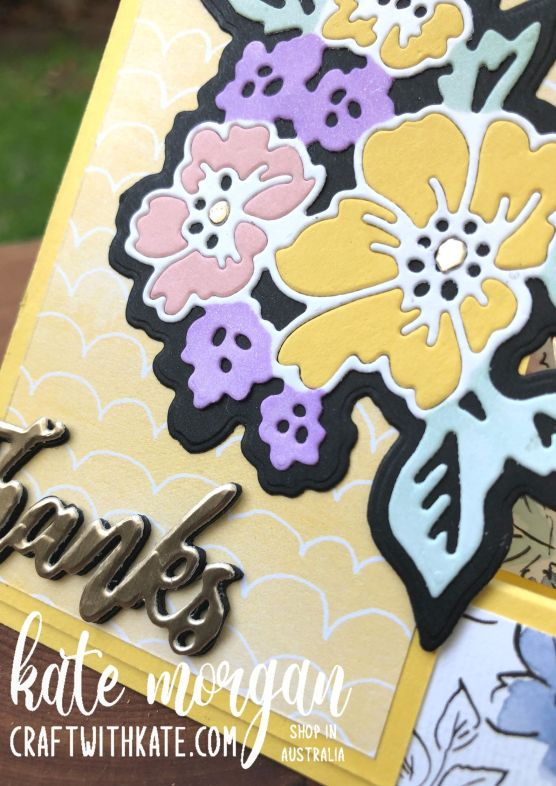 Inlay Technique Fancy Fold card using Hand-Penned Bundle for Daffodil Delight CCS by Kate Morgan, Stampin Up Australia 2021.
