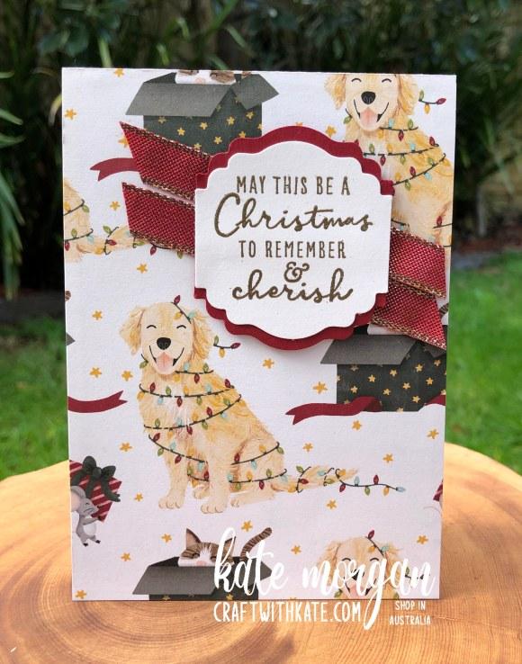Sweet Stockings DSP Handmade Christmas Card 1 HOC by Kate Morgan, Stampin Up Australia Christmas 2021