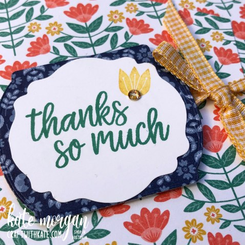 Sweet Symmetry card by Kate Morgan, Stampin Up Australia 2021 close up