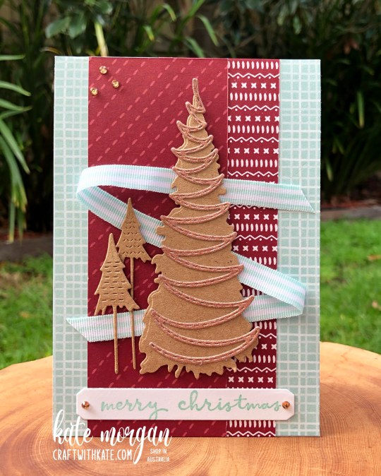 Whimsy & Wonder with Sweet Stockings DSP Handmade Christmas Card HOC by Kate Morgan, Stampin Up Australia, Christmas 2021