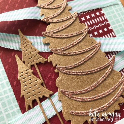 Whimsy & Wonder with Sweet Stockings DSP Handmade Christmas Card HOC by Kate Morgan, Stampin Up Australia Christmas 2021