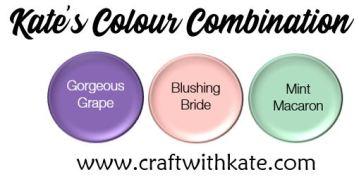 Colour Combination - Gorgeous Grape Blushing Bride Mint Macaron