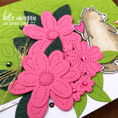 Count on Me Pierced Blooms for CCBH Granny Apple Green by Kate Morgan, Stampin Up Australia 2021 sq