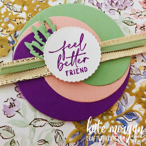 Layering Circles cards with Hand Penned for CCBH Gorgous Grape by Kate Morgan, Stampin Up Australia 2021
